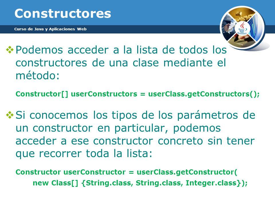 Constructor[] userConstructors = userClass.getConstructors();